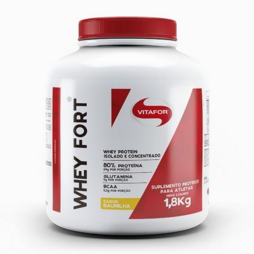 Whey Fort - Vitafor - Baunilha - 1,8kg