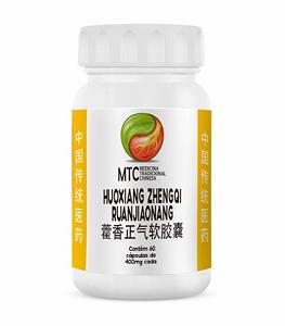Huoxiang Zhengqi Ruanjiaonang (60 cápsulas/400mg) - MTC Vitafor