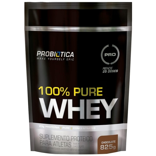 100% Pure Whey Protein - Chocolate - Refil 825g - Probiótica