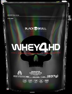 Whey 4 HD - Black Skull - Morango - 837g (Refil)