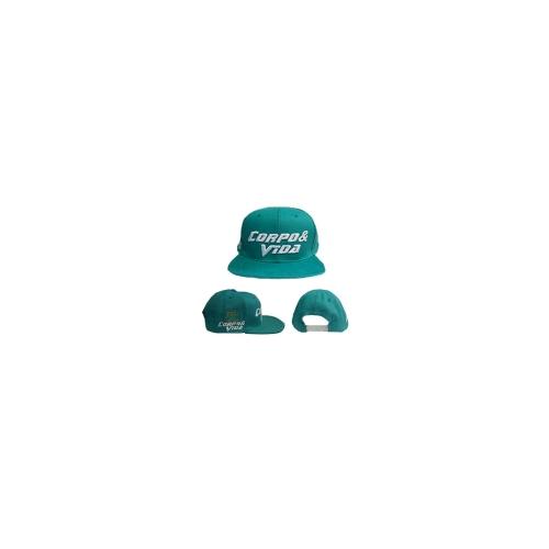 Boné - Snapback -  Verde Logo Branco - Corpo & Vida