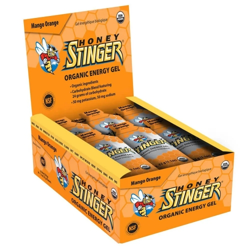 Gel Honey Stinger - Gold - 32g (24 Unidades) e Ganhe 1 Viseira