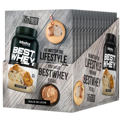 Best Whey - Doce de Leite - Atlhetica Nutrition ( 1 Caixa 15 Unidades)