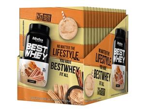Best Whey - Morango - Atlhetica Nutrition ( 1 Caixa 15 Unidades)