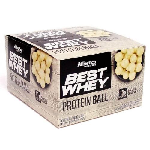 Best Whey Protein Ball 50g - Chocolate Branco - (1 Caixa 12 Unidades)