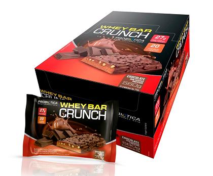 Whey Bar Crunch (Chocolate) - Caixa 8 Unidades 560g Probiótica