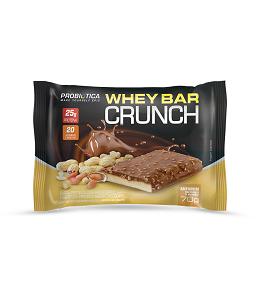 Whey Bar Crunch (Amendoim) - Caixa 8 Unidades 560g Probiótica