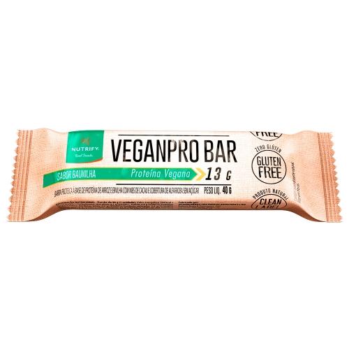 Veganpro Bar Sabor Baunilha (1 Unidade de 40g) - Nutrify