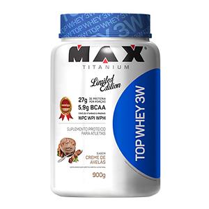 Top Whey 3W Sabor Creme de Avelãs (900g) - Max Titanium