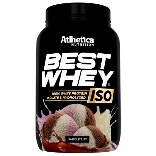 Best whey Iso 900g Sabor Napolitano - Atlhetica Nutrition