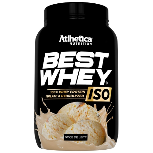 Best whey Iso 900g Sabor Doce de Leite - Atlhetica Nutrition