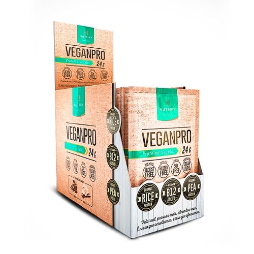 Vegan Pro - Cacau - Caixa C/ 15 Sachês 30g - Nutrify