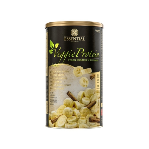 Veggie Protein - Proteína 100% Vegetal - Banana com Canela - Essential - 462g