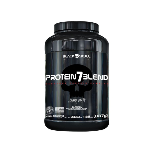 Protein 7 Blend Sabor Morango (837G) - Black Skull