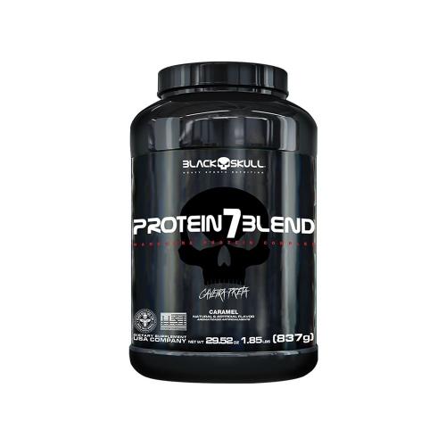 Protein 7 Blend Sabor Amendoim (837G) - Black Skull