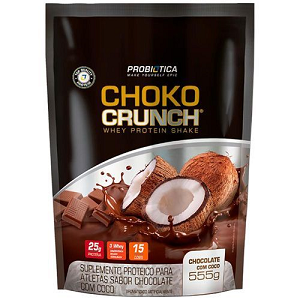 Choko Crunch Shake - Sabor Chocolate com Coco - (555g) - Probiotica