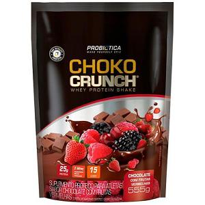Choko Crunch Shake - Sabor Chocolate com Frutas Vermelhas - (555g) - Probiotica