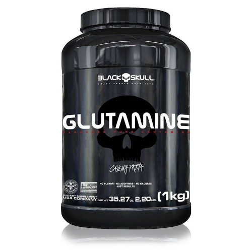 Glutamine Caveira Preta (1Kg) - Black Skull