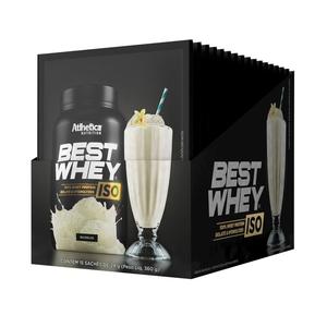 Best whey Iso Sabor Baunilha (Cx 15 Sachês) - Atlhetica Nutrition