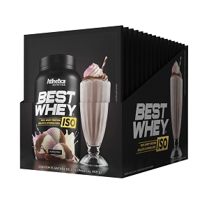 Best whey Iso Sabor Napolitano (Cx 15 Sachês) - Atlhetica Nutrition