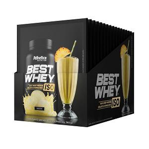 Best whey Iso Sabor Doce de Leite (Cx 15 Sachês) - Atlhetica Nutrition
