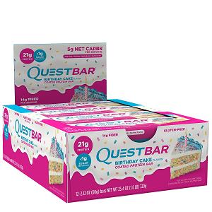 Quest Bar - Protein Bar - 1 Caixa ( 12 Unidades) - Birthday Cake