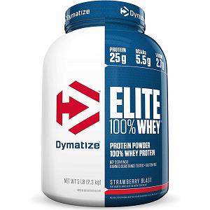 Elite Whey Protein Dymatize Morango - 2.270g
