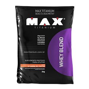 Whey Blend Sabor Vitamina de Frutas (2Kg) - Max Titanium