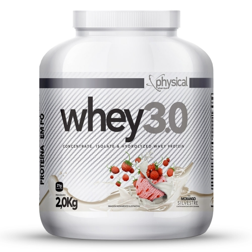 Whey 3.0 Sabor Morango (2Kg) - Physical Pharma