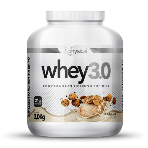 Whey 3.0 Sabor Cookies Cream (2Kg) - Physical Pharma