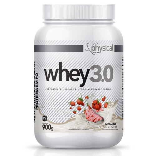 Whey 3.0 Sabor Morango (900g) - Physical Pharma