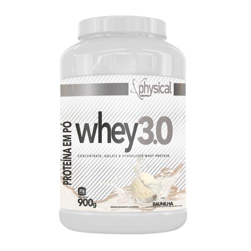 Whey 3.0 Sabor Morango (900g) - Physical Pharma