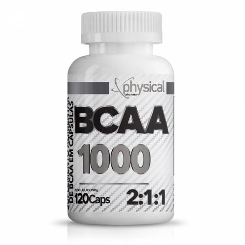 BCAA 1000 - 500mg (120 Cápsulas) - Physical Pharma