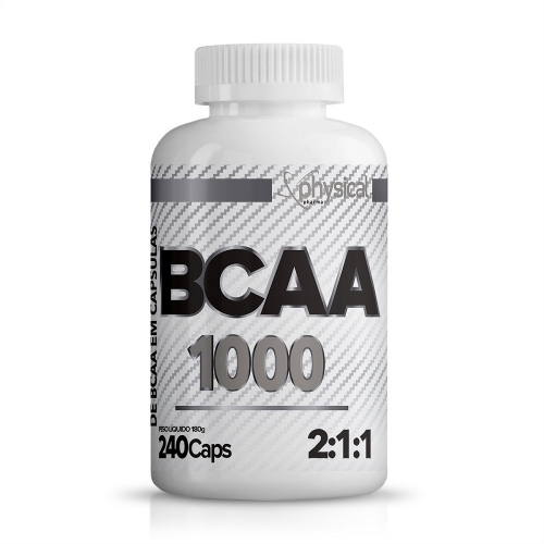 BCAA 1000 - 500mg (240 Cápsulas) - Physical Pharma
