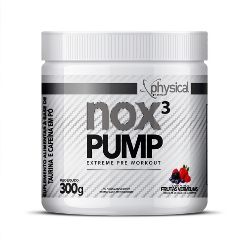 NOX 3 PUMP Sabor Frutas Vermelhas (300g) - Physical Pharma