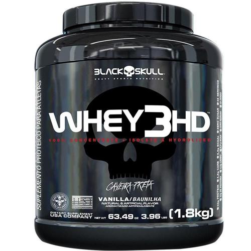 Whey 3HD Caveira Preta Sabor Chocolate (1,8kg) - Black Skull