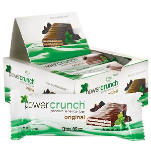 Power Crunch Original Bio Nutricional - Chocolate com menta  - 12 unidades 40g