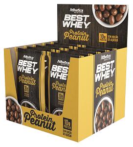 Best Whey Protein Peanut  Caixa c/12 unidade de 50g - Athetica Nutrition