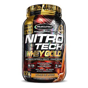 Nitro Tech 100% Whey Gold Sabor Baunilha (999g) - Muscletech