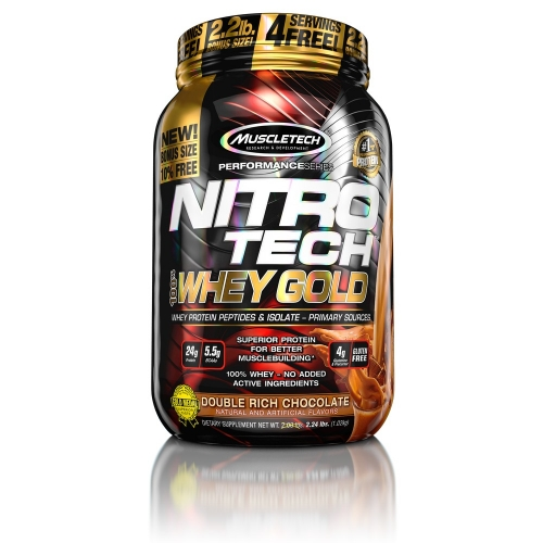 Nitro Tech 100% Whey Gold Sabor Chocolate (999g) - Muscletech