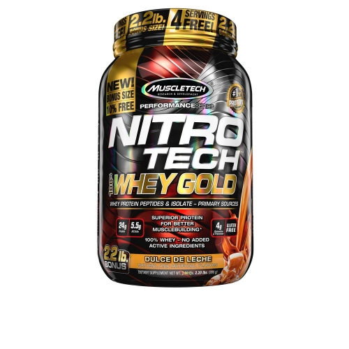 Nitro Tech 100% Whey Gold Sabor Doce de Leite (999g) - Muscletech