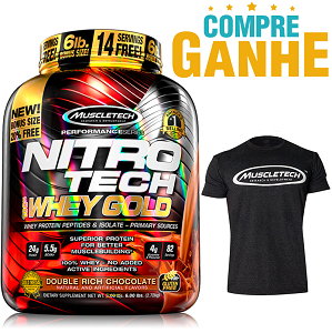 Nitro Tech 100% Whey Gold Sabor Morango (2,5kg) - Muscletech