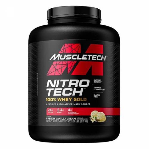 Nitro Tech 100% Whey Gold Sabor Baunilha (2,5kg) - Muscletech