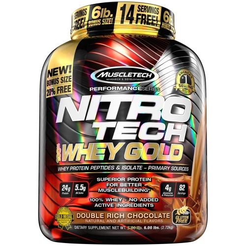 Nitro Tech 100% Whey Gold Sabor Chocolate (2,5kg) - Muscletech