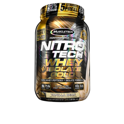 Nitro Tech Plus Whey Gold Isolate Sabor Baunilha (907g) - Muscletech
