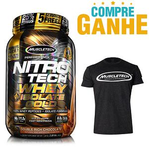 Nitro Tech Plus Whey Gold Isolate Sabor Morango (907g) - Muscletech