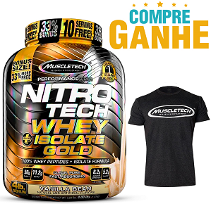 Nitro Tech Plus Whey Gold Isolate sabor Baunilha(1,8kg) - Muscletech
