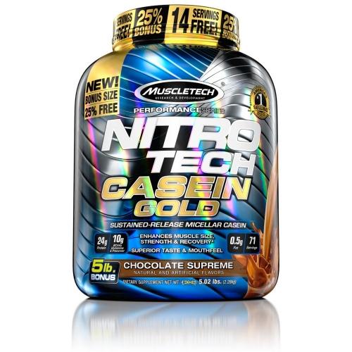 Nitro Tech Casein Gold Sabor Chocolate (2,27kg) - Muscletech