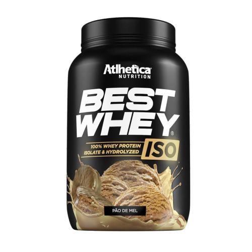 Best whey Iso Sabor Pão de Mel (900g) - Atlhetica Nutrition