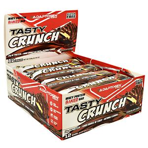 Tasty Crunch Protein Bar Sabor Chocolate Chip Cookie Dough (Caixa c/ 12 unidades) - Adaptogen